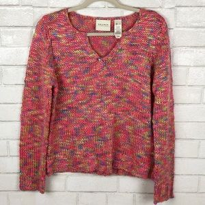 Axcess by Liz Claiborne Colorful Knit Sweater (L)